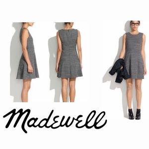MADEWELL Dovetail Black/White Running Stitch Dress